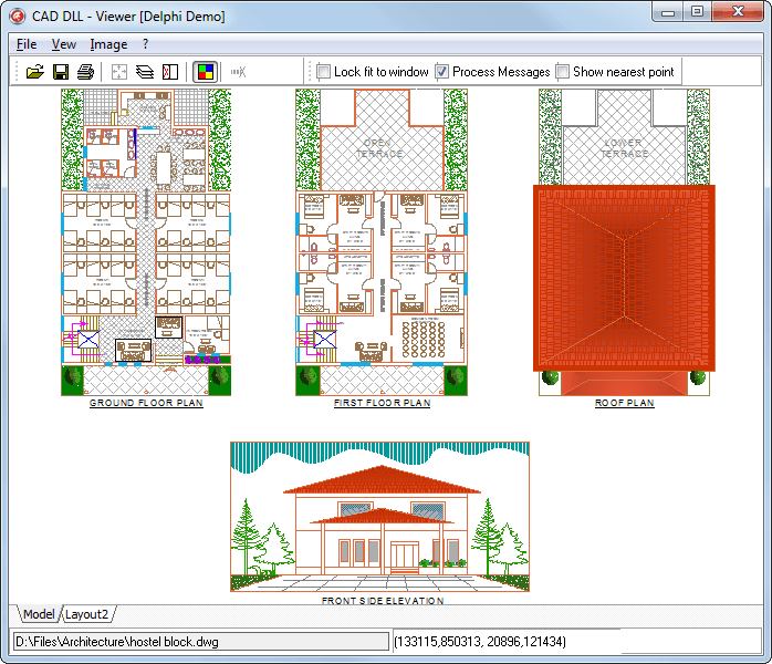 Library for CAD file formats visualization: DWG DXF HPGL PLT SVG CGM