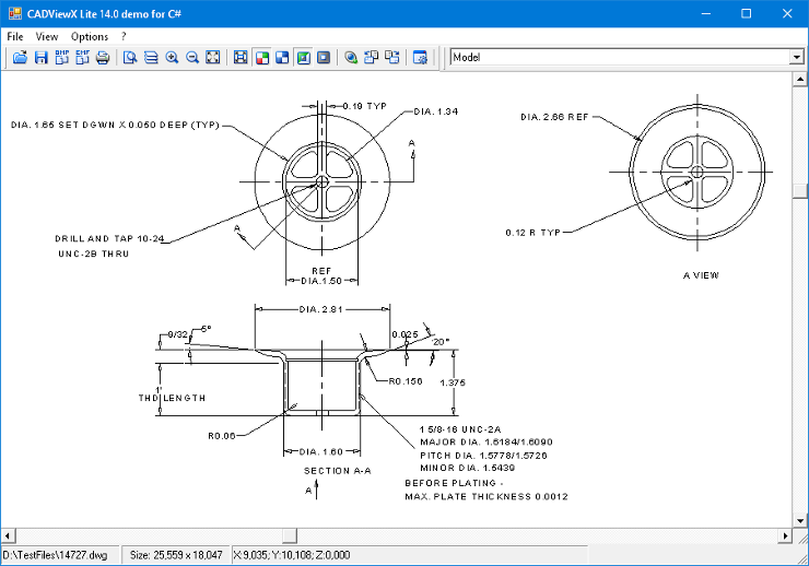 CADViewX: ActiveX for DWG, DXF, PLT, CGM full screenshot
